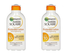 2 x Garnier Ambre Solaire Ultra Hydrating Sun Lotion SPF10 200ml - 2 for £7.99