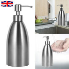 500ml Stainless Steel Soap Dispenser Bottle Hand Pump Lotion Shampoo Container