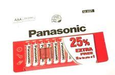 10 x PANASONIC 1.5v BATTERY AAA R03 UM4 ZINC CARBON Sealed Batteries Exp 2021