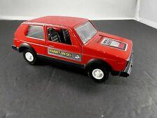 Vintage Tootsie Volkswagon Rabbit Diesel VW Red Car Missing Back Window Made USA
