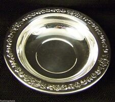 ANTIQUE SILVER SERVING BOWL - NUTS - BON BON DISH TRAY -view our FineThings4sale
