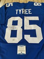 David Tyree Autographed/Signed Jersey Beckett COA New York Giants Super Bowl