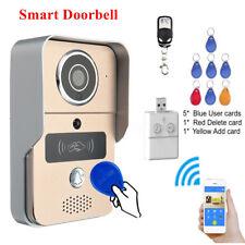 Smart Doorbell RFID Remote WIFI Wireless Video Door Phone IR Camera Security Hot