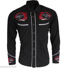 Camisas y polos de hombre rojo color principal negro