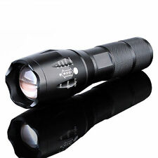 50000Lumens XM-L T6 Zoomable Tactical military LED 18650 Flashlight Torch Lamp #