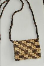 Handcrafted ~Necklace Purse Classic~Natural Wood & Color~Exquisite