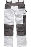 Mens Dickies Trouser Knee Pad Pockets Painters Decorators WD4930 White 30-44''