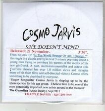 (CX180) Cosmo Jarvis, She Doesn't Mind - DJ CD