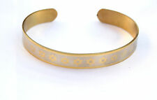 Bracelet Star of David/Magen David Israel Jewish Wristband Stainless-Gold Color