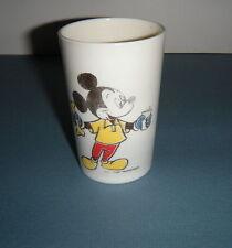 "Vintage Walt Disney Mickey Donald Duck Pluto Plastic Cup 3.5"" Usa Boys & Girls"