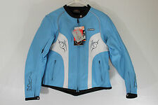 M2R Made 2 Ride Womens Sz XL 12 Blue Leather Motorcycle Riding Jacket Coat NEW