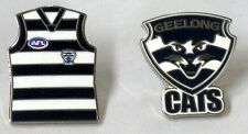 GEELONG CATS SET OF 2 LAPEL TIE HAT PINS TEAM LOGO PIN AND GUERNSEY PIN