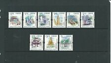 Hong Kong 1999-2002 $1.20 to $5 Buildings SG977-985 mnh