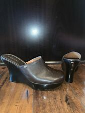 Tommy Hilfiger Tommy Girl Women's Size 10 Dark Brown Leather Clog Wedge