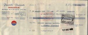 CAMBIALE DEL 1960 - MOBILIFICIO FRATELLI DURANTE - GHIRANO DI PRATA UDINE -