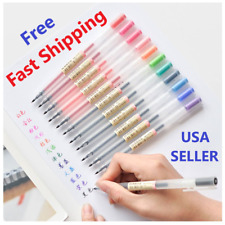 12 Pcs Gel Pen 0.5mm Color Muji Style Pens Set