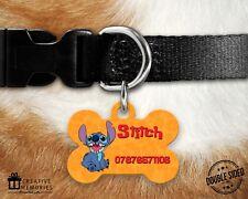 Personalised Pet Tag - ID Tag - Dog Tag - Bone Tag - Lilo & Stitch Orange