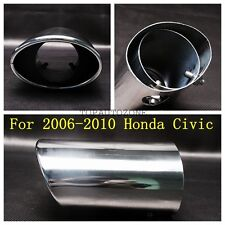 1 Chrome Stainless Steel Exhaust Muffler Tip Tail Pipe For 2006-2010 Honda Civic