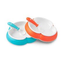schale mit besteck babyschale Plate and Spoon 2 Pack Orange-blau 71105 BabyBjörn