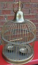 20' Tall Solid Brass Bird Cage Farmhouse Shabby Decor Vintage India Collectible