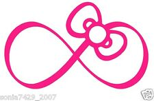 Hello Kitty Pink Bow Infinity Car Truck Wall Vinyl Window Decal Decals Sticker