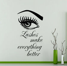 Lashes Make Everything Better Wall Decal Art Beauty Fashion Vinyl Sticker 156ct