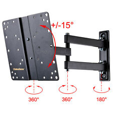 "Full Motion TV Monitor Wall Mount Bracket 24 26 27 29 32 37 39"" LED LCD Tilt CT8"