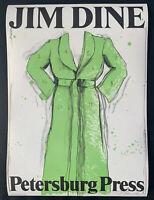 Jim Dine Original Signed Exhibition Poster. Green Dress. Petersburg Press. 1971