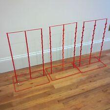 "3 - Triple Round Strip 6"" Apart 39 Chip Counter Potato Chip Display Rack (Red)"