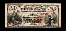 1889 $20 Large Size National Banknotes Kentucky