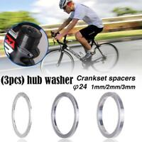 3pcs Set Lightweight Bike Bottom Bracket Washer Bicycle Flywheel Hub Spacer 24mm