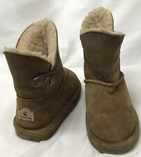 Toddler Bear Paw Tan fur lined Boots Size 10