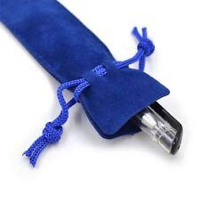 3 Blue Velvet Pen Sleeve Drawstring Pouch Made with for Swarovski Crystal Pen