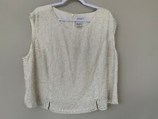 APART Impressions Womens Size 22 Beautiful Cream Shell With Sequined Detail