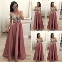 Womens Formal Maxi Long Dress Evening Party Bridesmaid Prom Ball Gown Wedding