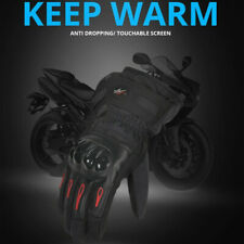 Winter Motorcycle Riding Gloves Long Waterproof Screen Touch Rubber Armor Cotton