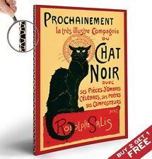 Le Chat Noir Retro Poster-Grueso tarjeta Junta A4-Vintage Francés El Arte De Pared Decoración