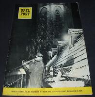 Werkzeitschrift Opel Post für Mitarbeiter Nr. 12 Stand Dezember 1958!