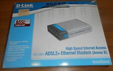ADSL2+ Ethernet Modem (AnnexB) D-Link DSL-380T, used, old stock