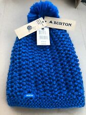 BURTON Women's Scuba Blue GUESS AGAIN Knit Pom Beanie Hat Cap One size