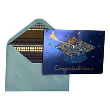 Graduation Day Greeting Card - Congratulations - Deluxed, Tipped Insert, Sparkli