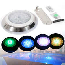 High Power 54W Wall Mounted Stainless Steel Led Pool Light 24V 7-Color Rgb Lamp