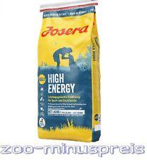 JOSERA HIGH ENERGY Hundefutter 15 kg, Das Hochleistungsfutter für aktive Hunde