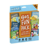 Hoyle - 6 in 1 Fun Pack - 6 Card Games - Fun For Ages 3+