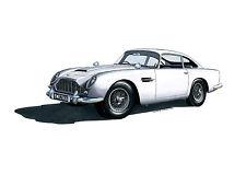 Aston Martin DB5 Greeting Card A5 size