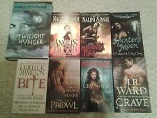 Lot of 8 paranormal romance/urban fantasy books J R Ward, Nalini Singh, etc.