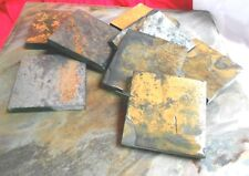 """4 HANDCUT STONE 4"""" SQUARE COASTERS CORK BACK MANY COLORS HOLDERS AVAIL # 5485"""