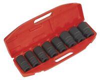 """Sealey AK885 Impact Socket Set 8pc Deep 3/4""""Sq Drive Metric"""