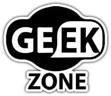 "Geek Zone Nerd Computer Wi/Fi Funny Car Bumper Vinyl Sticker Decal 5""X4"""