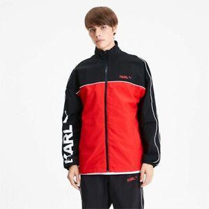 Puma x Karl Lagerfeld Track Top Black Red White Full Zip Sportswear Jacket